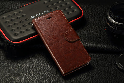 iParis European Brown Leather Fashion Wallet Flip Cover Case for iPhone6 - iparis