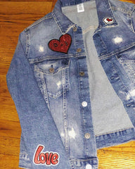 Bridal Denim Patch Jacket
