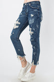 Distressed Dark Denim