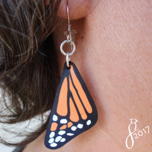 Monarch Wing Earrings