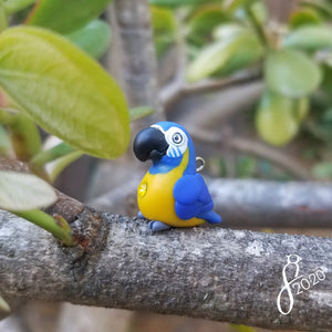 Blue-Throated Macaw Charm