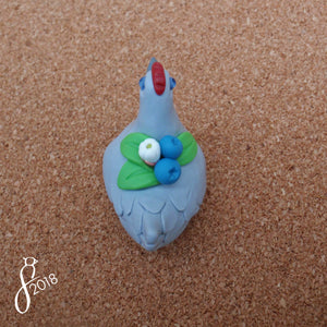 Blueberry Hen Figurine