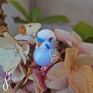 Pastel Violet Budgie Heart Charm
