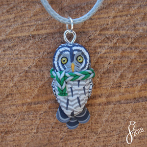 Bundled Great Grey Owl Pendant
