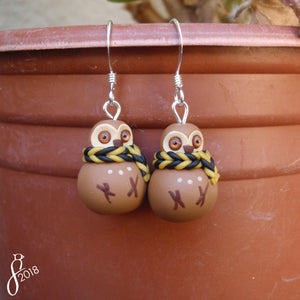 Bundled Owl Earrings