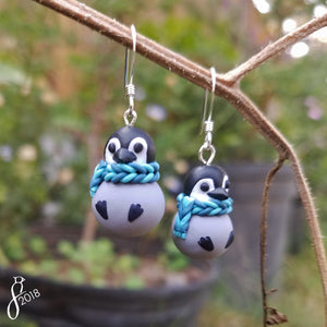 Bundled Penguin Earrings