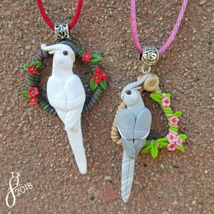 Custom Bird Wreath Pendant