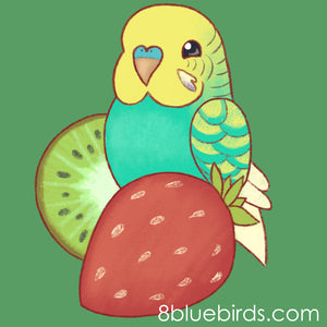 Strawberry Kiwi Budgie T-Shirt