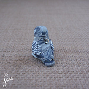 Great Grey Owl Charm