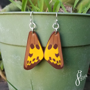Hermes Copper Butterfly Wing Earrings