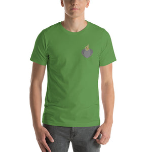 Heartwings Cockatiel Hen T-Shirt (Side Heart)