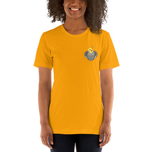 Heartwings Pearl Cockatiel T-Shirt (Side Heart)