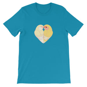 Peach-Faced Lovebird Heart T-Shirt