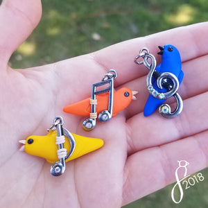 Musical Bird Pendants