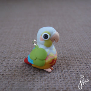 Pineapple Green-Cheeked Conure Charm