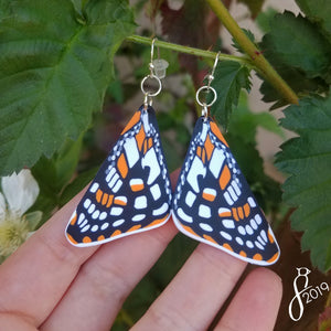 Quino Checkerspot Butterfly Wing Earrings