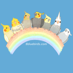 Cockatiel Rainbow T-Shirt