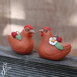 Strawberry Hen Charm