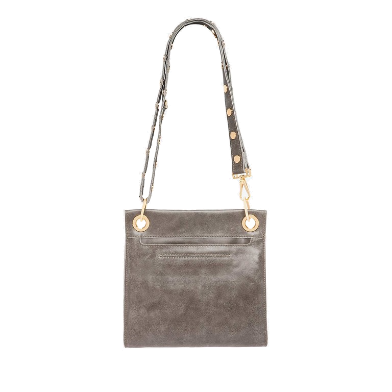 Tony Medium Pewter Crossbody