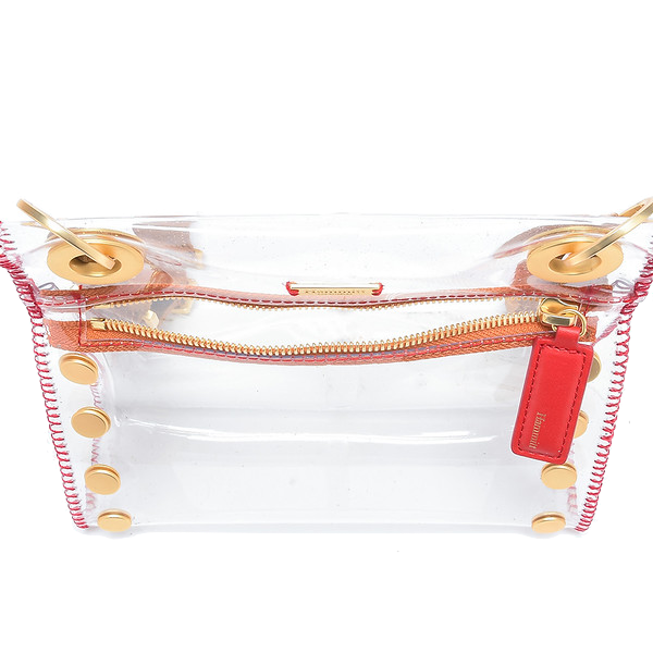 Clear and Brushed Gold Tony Crossbody