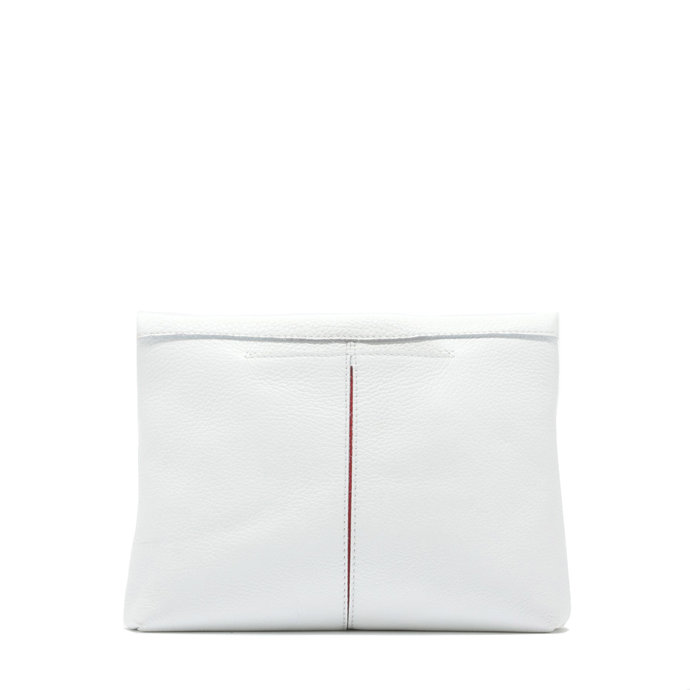 Ceramic White VIP Medium Clutch