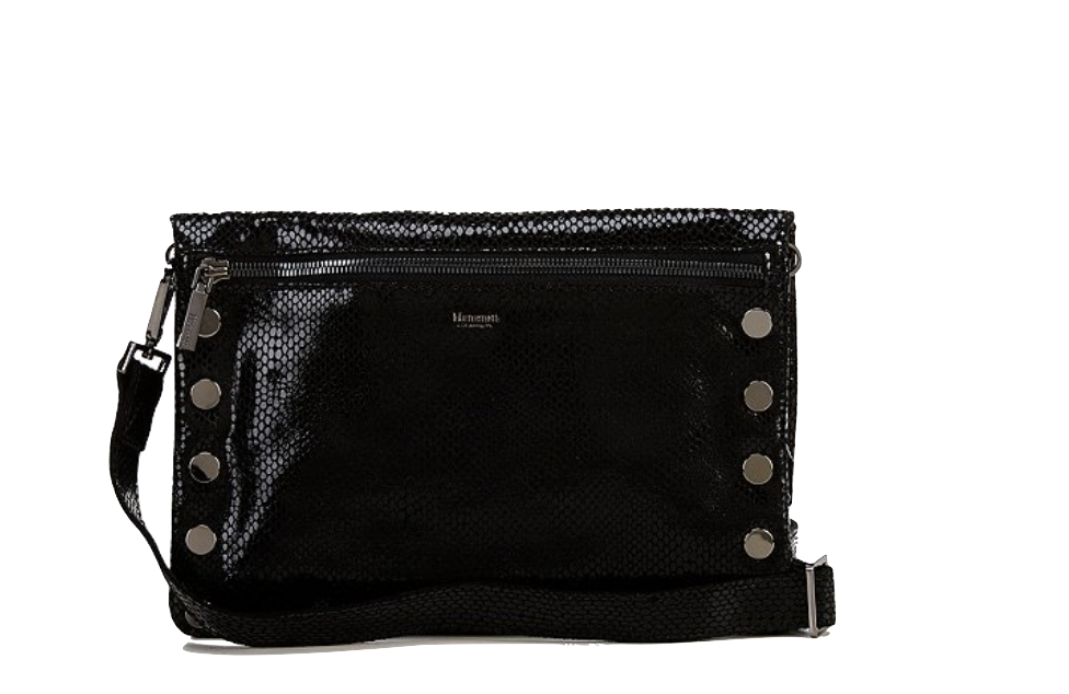 Black Diamond 6-Way Flap Crocodile-Embossed Crossbody