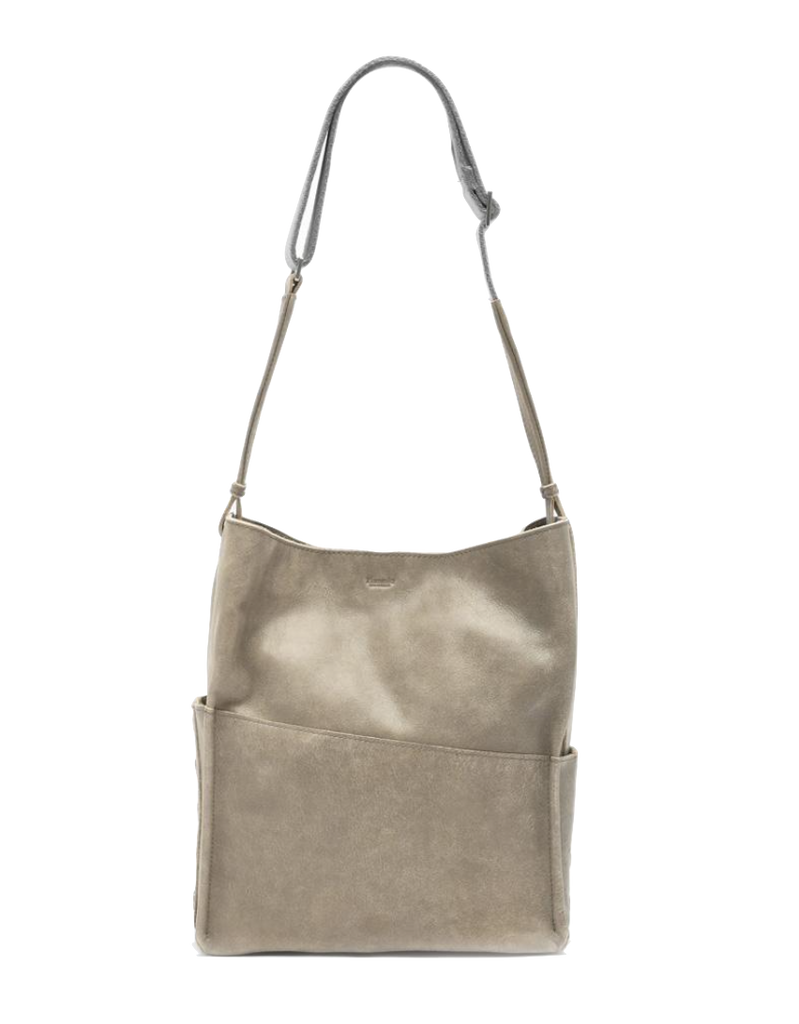 Davis Pew Brushed Silver Shoulder Bag