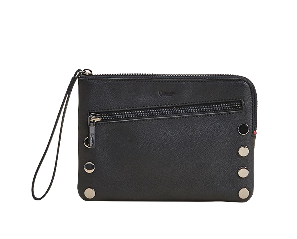Black and Gunmetal Nash 2 Crossbody Clutch