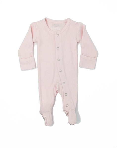 Organic Footed Overall - Blush - Barna & Co