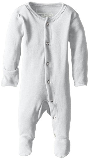 Footed Overall - White - L'ovedbaby - Barna & Co - Seattle, Washington