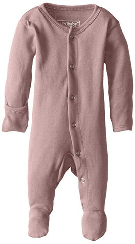 Organic Footed Overall - Mauve - Barna & Co