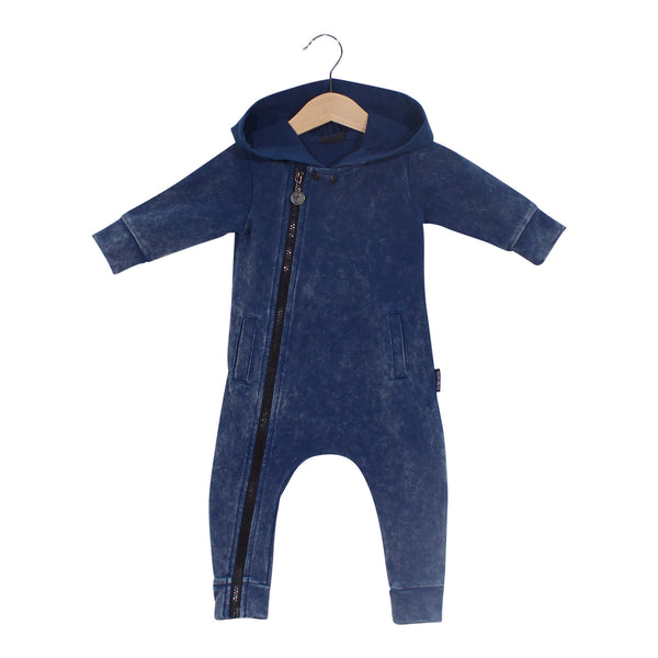 Blue Jog Denim Romper - Barna & Co
