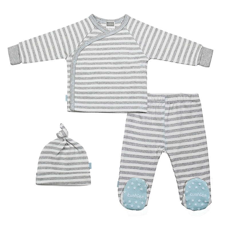 Take Me Home Set - Blue/Grey Stripe - Barna & Co