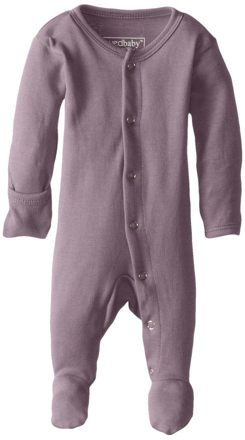 Organic Footed Overall - Lavender - Barna & Co