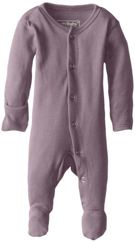 Organic Footed Overall - Lavender