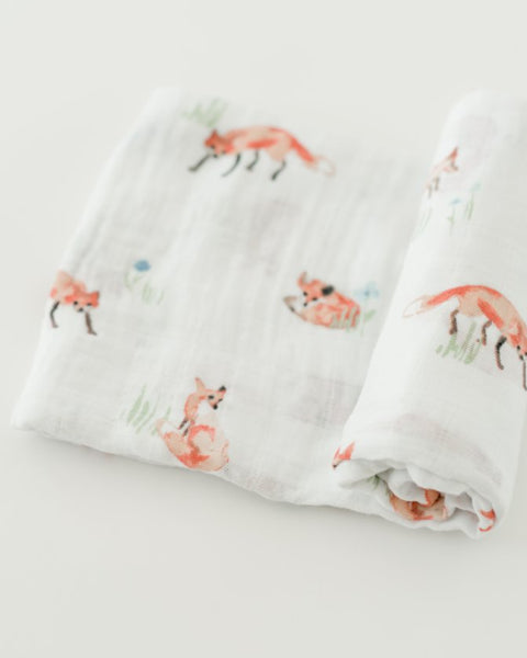 Cotton Swaddle - Fox - Barna & Co