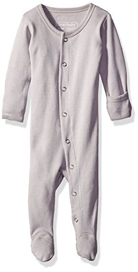 Organic Footed Overall - Light Grey - Barna & Co