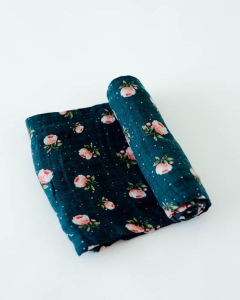 Cotton Swaddle - Midnight Rose - Barna & Co