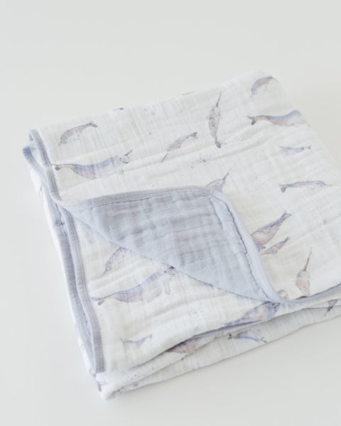 Cotton Muslin Quilt - Narwhal - Barna & Co