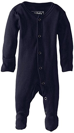 Organic Footed Overall - Navy - Barna & Co