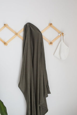 Stretch Swaddle - Olive - Barna & Co