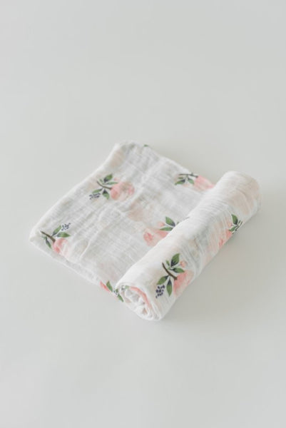 Cotton Swaddle - Watercolor Rose - Barna & Co