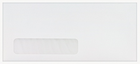 "#10 Window Envelope - Single Window - #10 - 9 1/2"" Width x 4 1/8"" Length - 24 lb - 500 / Box - White"