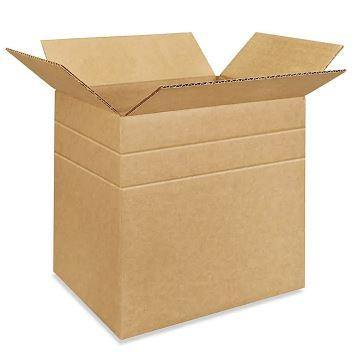 "14 1⁄2 x 8 3⁄4 x 12"" Multi-Depth Corrugated Boxes Plain Shipping boxes"