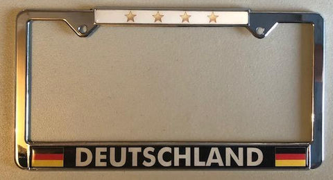 Deutschland - Germany Soccer License Plates frames with Stars - Sisupplies.com