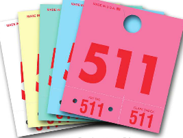 SERVICE DISPATCH NUMBER COLORED 3DIGIT TAGS (1,000) - Sisupplies.com