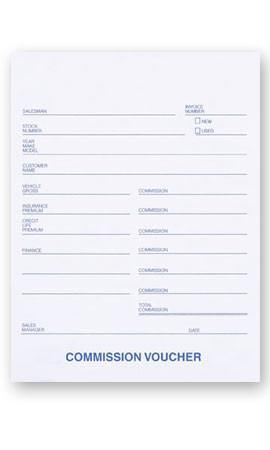 Commission Voucher 3Part (100) #559-SI - Sisupplies.com