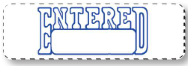Entered Stamp - Blue Ink Self inking #7244-SI - Sisupplies.com
