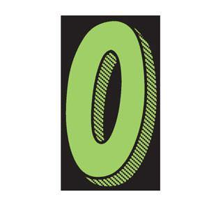 "SALES NUMBER WINDOW STICKERS 11.5"" FLUORESCENT GREEN AND BLACK - Sisupplies.com"