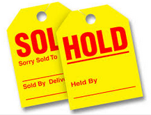 SALES - HOLD or SOLD HANGTAGS (50) - Sisupplies.com